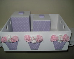kit maternidade vasinho de flores