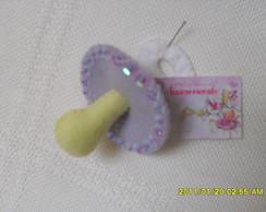 Lembrancinha de nascimento chupeta lil�s