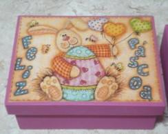 Caixa decorada para p�scoa