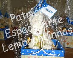 Sacolinha Mdf com coelho pel�cia