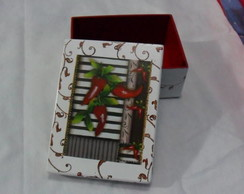 caixa decoupage pimenta