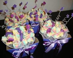 Bouquet de marshmallows lil�s e pink