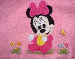 toalha de banho baby minie sentada