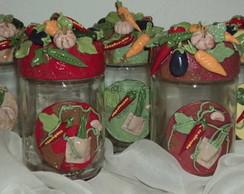 potes decorados  para temperos-5 potes