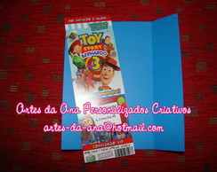 Convite Ticket Toy Story 3