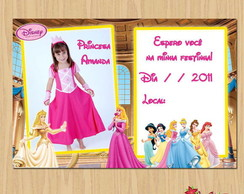Convite personalizado Princesas