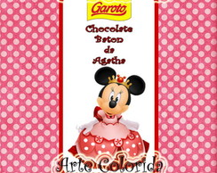 R�tulo de chocolate Baton da Minnie