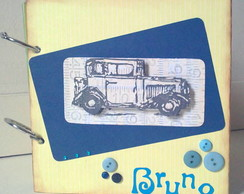 Mini-�lbum menino Carro Scrapbook