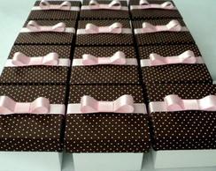 Caixa Po� Marrom com Rosa