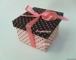 caixa po� rosa e marrom