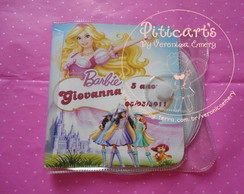 Porta CD ou DVD Barbie