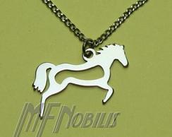 Colar Cavalo A�o Inox