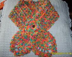 Gola pinha em croch�