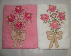 toalha de banho floral silvia rosas
