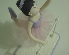 Bailarina em biscuit topo de bolo