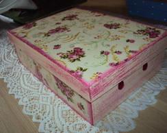 Caixa floral- P�tina pink