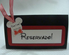 Placa de mesa Reservada do Mickey