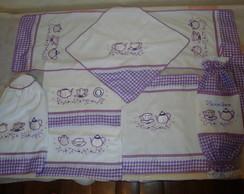 jogo de cozinha lilas