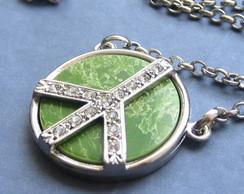 Colar Peace Verde - pt
