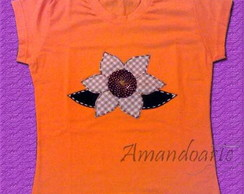 Blusa patch flor