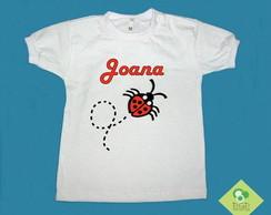 T-Shirt Beb� e Infantil NOME + JOANINHA
