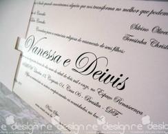 Convite Casamento - Vanessa&Deivis