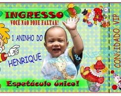 Convite Ingresso - Circo