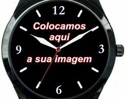 8ef6fd1eac3 Relógio Pulso Personalizado Com Sua Foto Imagem Logo Barato