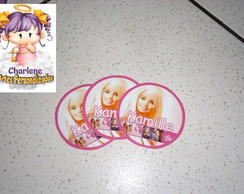 Adesivo redondo para Pirulito Barbie