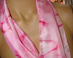 Echarpe de seda - Ros�