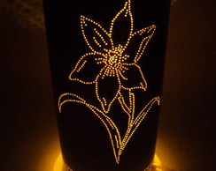 Lumin�ria de pvc l�rio