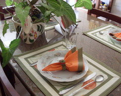 Jogo americano tulipa cenoura