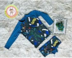 7262d589b1c8e ... Conjunto Camiseta e Sunga UV 50 Batman Tamanho 4