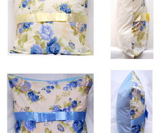 Capas de almofada florais com la�o