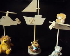Enfeite mesa festa anivers�rio barco mdf