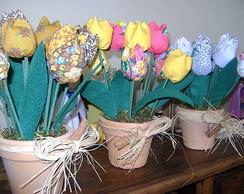 Vasinho de tulipas