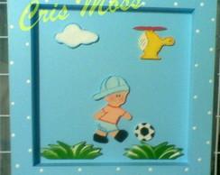 Quadrinho menino futebol