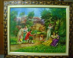 Tela de Damas no Jardim
