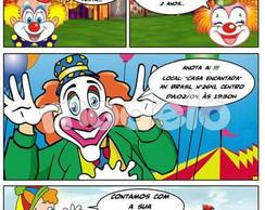 Convite gibi Circo - Palha�o
