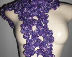Cachecol crochet Seda