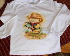 Camiseta infantil pintada � m�o