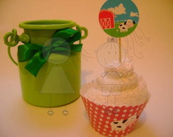 Toppers simples para cupcake