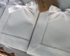 12 Guardanapos Ponto Ajour 40x40 branco