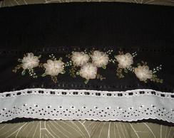 Toalha de Banho Flores de fitas