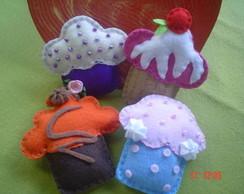 Cupcakes de Feltro - Docinhos