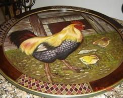 Prato girat�rio/petisqueira/ galinha