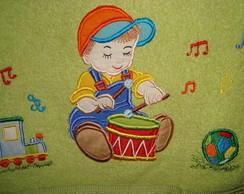 toalha de banho menino do tambor