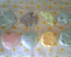 Sabonetes em formatos diversos
