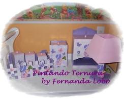 Kit Higi�ne em MDF - Tema Camponesa