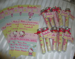 Convite no Tubo Hello Kitty